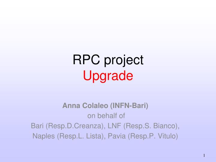rpc project upgrade n.
