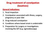 drug treatment of constipation laxatives