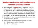 mechanism of action and classification of stimulant irritant laxatives