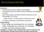 quick group activity