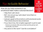 tips to guide behavior