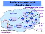 active measurement infrastructure