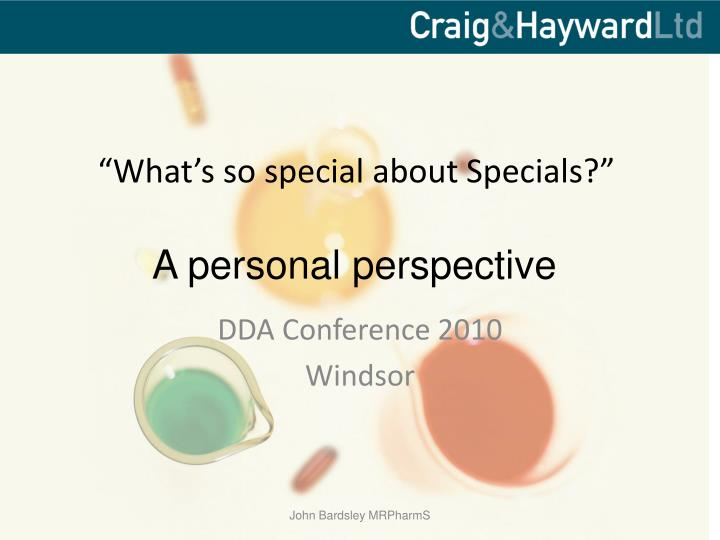 what s so special about specials n.