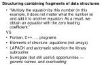 structuring combining fragments of data structures