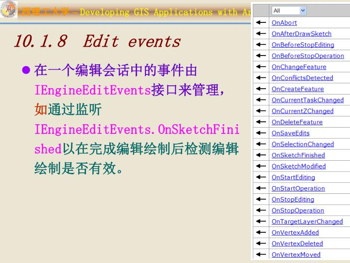 10.1.8  Edit events