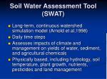 soil water assessment tool swat
