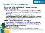 current dfid programme