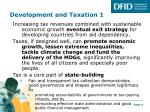 development and taxation 1