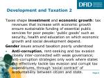 development and taxation 2
