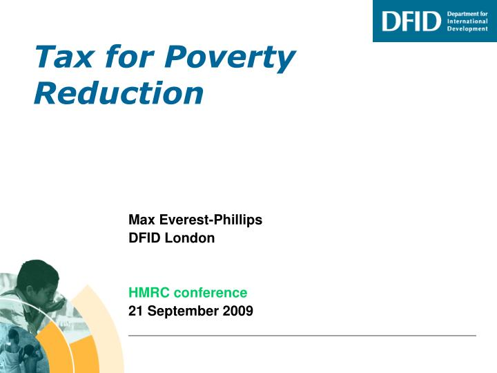 tax for poverty reduction n.
