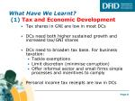 what have we learnt 1 tax and economic development