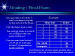 grading final exam