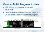 custom build progress to date
