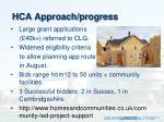 hca approach progress