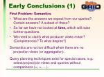 early conclusions 1