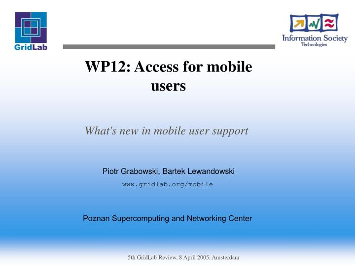 wp12 access for mobile users n.