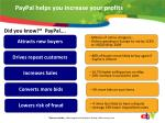 paypal helps you increase your profits