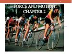 force and motion chapter 2