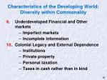 characteristics of the developing world diversity within commonality2