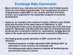 exchange rate conversion