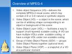 overview of mpeg 4