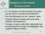asepsis in the home environment