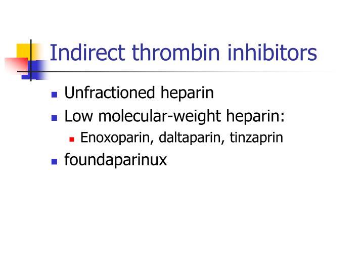 Indirect thrombin inhibitors