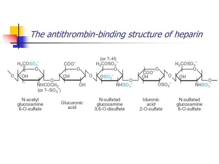 The antithrombin-binding structure of heparin