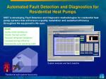 automated fault detection and diagnostics for residential heat pumps