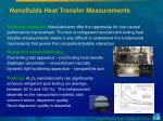 nanofluids heat transfer measurements