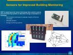 sensors for improved building monitoring