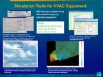 simulation tools for hvac equipment