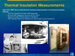 thermal insulation measurements