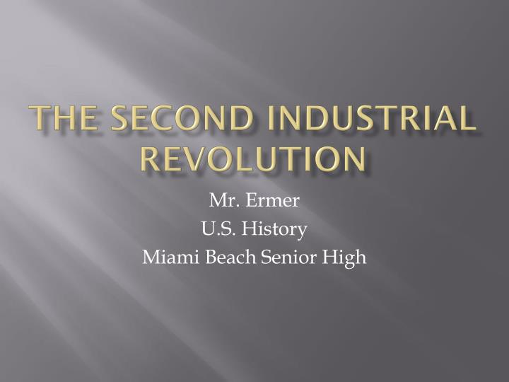 the second industrial revolution n.