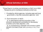 official definition of oda