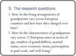 3 the research questions