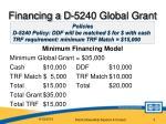 financing a d 5240 global grant