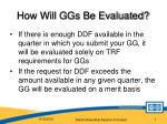 how will ggs be evaluated
