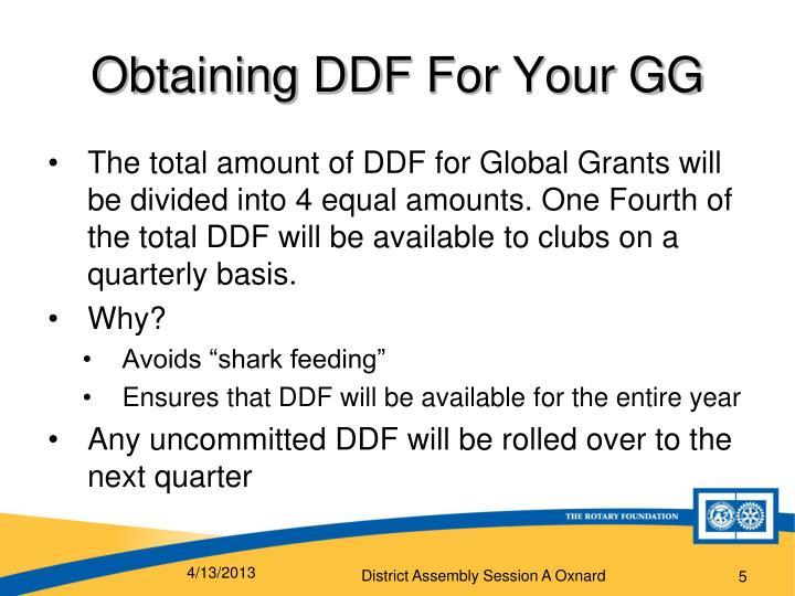 Obtaining DDF
