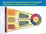 marketing strategy planning and demographic dimensions of final consumers exhibit 5 1