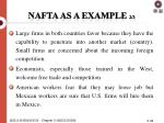 nafta as a example 2 3