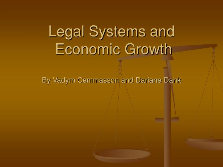 legal systems and economic growth by vadym cemmasson and dariane dank n.