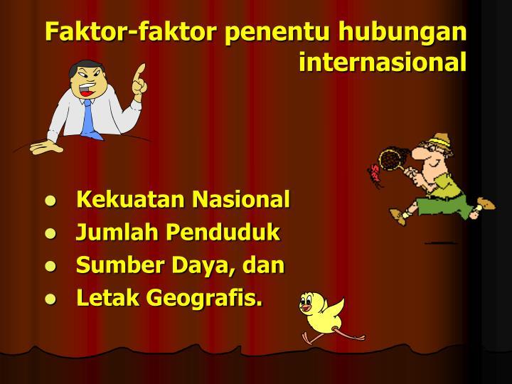 Faktor-faktor penentu hubungan internasional