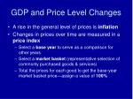 gdp and price level changes