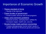 importance of economic growth