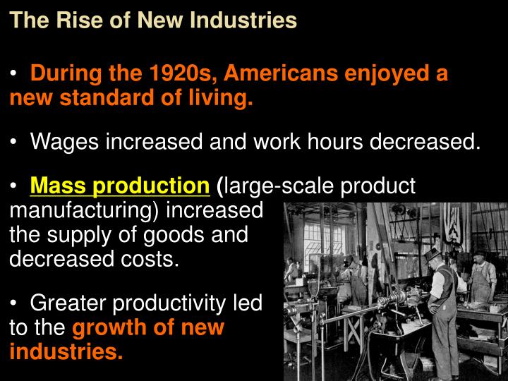 The Rise of New Industries