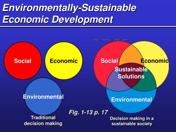 Environmentally-Sustainable Economic Development