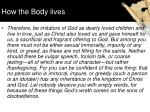 how the body lives1