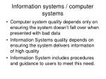 information systems computer systems