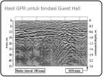 hasil gpr untuk fondasi guest hall